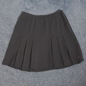 Jones New York Grey Gray Pleated Skirt